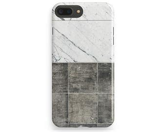 Tile Phone Cover, White Marble iPhone Case, iPhone 6 Case, iPhone 7 Cover, iPhone 7 Plus Case, iPhone 6 Plus, Phone Covers, iPhone 4-5 Case