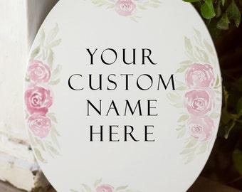 Custom Name Sign | Canvas Word Art | Wedding Signs | Wall art canvas | custom signs | watercolor canvas