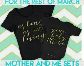 FREE POST in Australia  - Matching Mummy and Me Mothers Day tshirts or Onesies