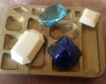 Mold Soft silicone gems square and rectangular