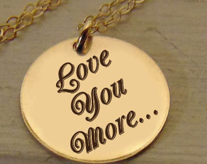 "Personal Message, Custom Necklace Round Pendant (5/8"") Necklace Perfect Gift Rose Gold Yellow Gold Sterling Silver, Christmas gift"