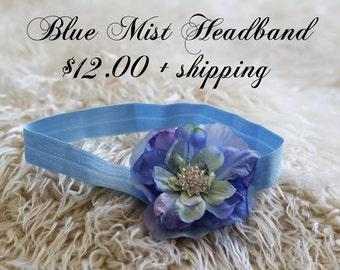 Blue Mist Newborn Headband
