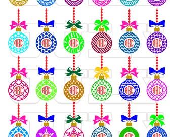 Christmas Ball Monogram SVG, Xmas svg, Christmas svg, Christmas Monogram svg, Christmas Monogram Cut files, Christmas Ornaments