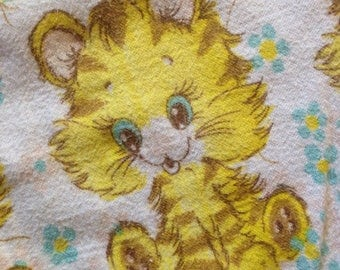 Vintage Tiger Cub and Balloon Baby Blanket