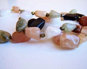 Beautiful Vintage Bulgarian  Necklace with Semi Precious Stones