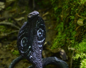 Grey cobra sculpture fantasy animal