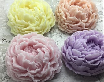 12 Peony Soap , Favor , Glycerin Soap , Rose Shaped Soap , Party Favor , Wedding Favor , Bridal Shower Favor , Baby Shower Favors