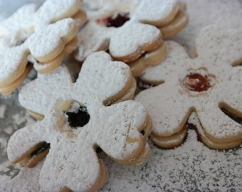 clover shaped  butter cookies, St. Patrick's day  cookies, hungarian linzer cookies,four clover linzer cookies for , tea cookies