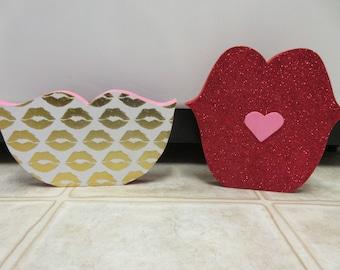 Valentine Lips-Valentine's Day Decor-Valentine Decor