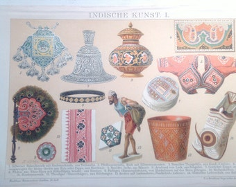 "Chromolithograph ""Indian art I.""."