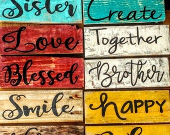Your choice of home and family handmade pallet board sign, rustic sign, pallet board home signs, Wood Pallet, Reclaimed Wood