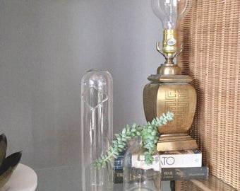 Vintage Brass Lamp | Chinoiserie Table Lamp