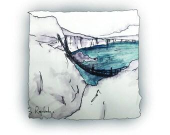 CARRICK-A-REDE - Rope bridge near Ballintoy North Antrim Coast