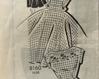 Mail order 8160 misses dress size 16 bust 36 vintage 1950's sewing pattern