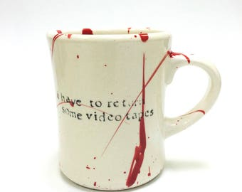 American Psycho I have to return some videotapes Mug Diner Style Patrick Bateman quote