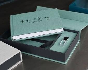 Mini Wedding Album & Crystal USB in a Presentation Box