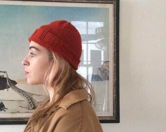 CLASSIC ALPACA BEANIE - hand knit hat