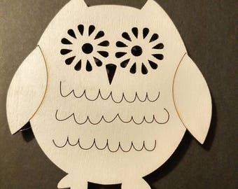 Pudgy owl magnet