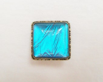 Vintage Silver Butterfly Wing Brooch Pin. Art Deco Morphos Butterfly Wing Sterling Brooch Pin.