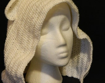 Crochet Hood, Polar Bear - Small/Child