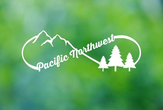 Pacific Northwest Pnw Nature Icons Infinity Vinyl Decal