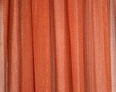 Coral orange semi-sheer f...