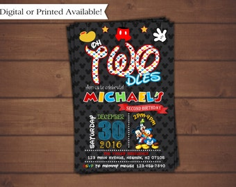 Mickey Mouse Invitation,Mickey Mouse Second Birthday