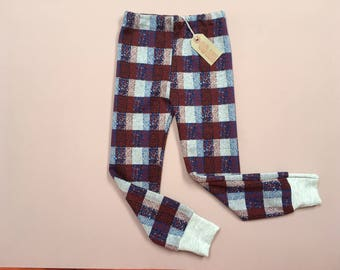 Bold checked cosy pants 4+ yrs old.