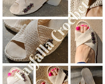 Shoes, Crochet shoes, Spring-Summer-Autumn, Outdoor shoes, Slipper shoes
