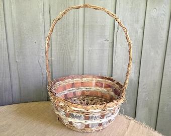 Birch basket/ large birch basket/ wedding basket/ wedding favor basket/ rustic basket/ woodland basket/ rustic wedding/ woodland wedding