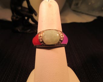 Chic Sterling Silver Multi Gemstone Ring - 8