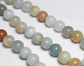 10pcs Amazonite Beads (Grade B) - Natural Amazonite Beads - Amazonite Gemstones - Blue Gemstones - 6mm Beads - Natural Beads - Q00067