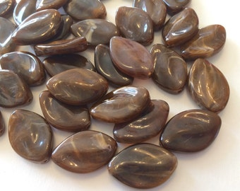 Hot Cocoa Beads, The Marquise Collection, jewelry beads, 30x21mm Beads, bangle beads, big acrylic beads, brown jewelry, brown bracelet