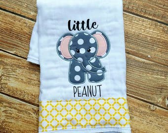 Little Peanut Burp Cloth