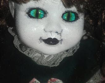 Devil doll Demon girl ooak repainted china doll
