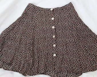 Vintage 90's Ann Taylor Patterned Mini Skirt - Size 2