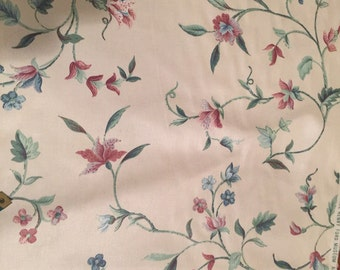 A Stitch In Time Vintage Waverly Upholstery Fabric Colonial Floral Print