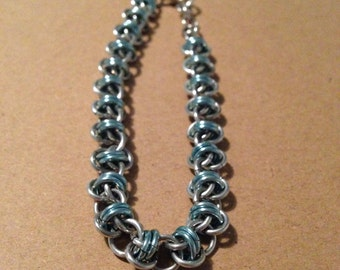 chainmaille barrel weave bracelet