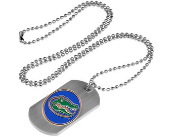 Florida Gators Stainless Steel Dog Tag Necklace