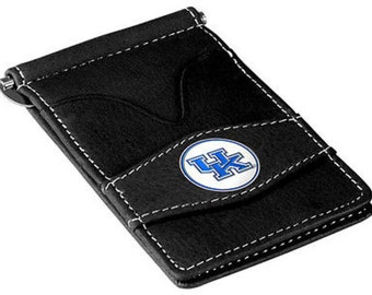 Kentucky Wildcats Black Leather Wallet Card Holder