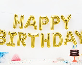 HAPPY BIRTHDAY  gold foil balloon