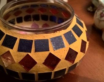 Tealights handmade mosaic