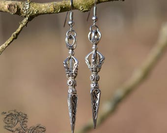 "Earrings ""The Evil Queen"" - Medieval, celtic, viking, fantasy, gothic"