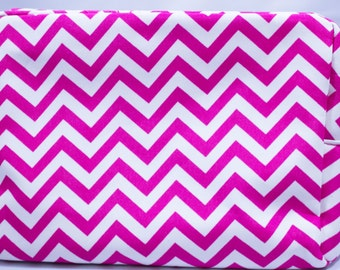 Cosmetic Bag-Make Up Bag-Chevron-Pink-Hot Pink-Luggage-Toiletry Bag