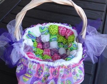 Easter basket with puffy (or biscuit) blocks