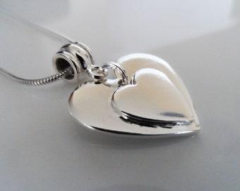 Medium Silver ashes pendant, Fine silver ashes pendant, Silver cremation pendant, Ashes jewellery, Cremation jewellery, Memorial pendant,