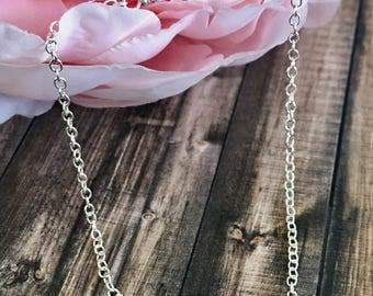 Sterling Silver Infinity Swarovski Crystal Cable Chain Bracelet, Dainty Bracelets, Spiritual Jewelry, Gifts for Her, Infinity Jewelry