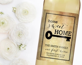 Housewarming Gift -New Home Wine Label - Custom Wine Label - Personalized Housewarming Gift - Housewarming Gift Basket