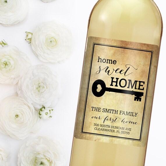 Housewarming gift new home wine label custom wine label for Best wine for housewarming gift