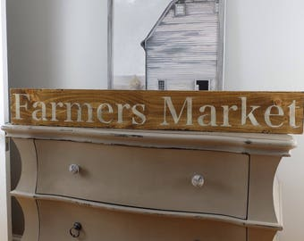 FARMERS MARKET wooden sign